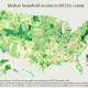 U.S. Census Bureau - Household Median Income by County