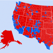 U.S. Election Map by Counties