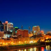 Skyline of Nashville at night
