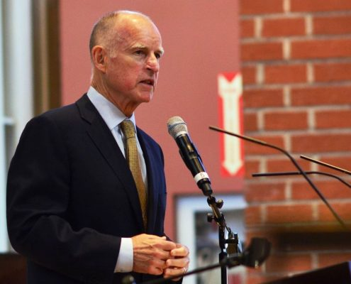 Gov. Jerry Brown, photo credit Neon Tommy via Flickr