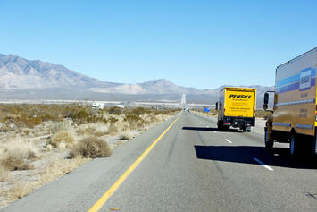 Moving truck on Nevada Highway