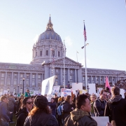 NoBanNoWall Rally at San Francisco City Hall, Feb. 4, 2017