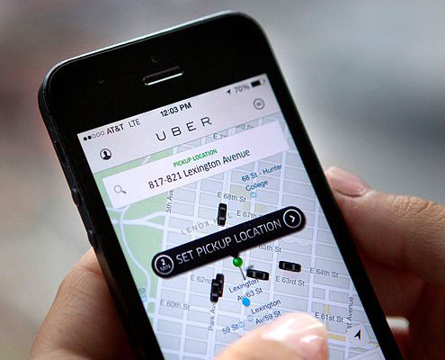 """Gig"" Economy, Uber app screen"