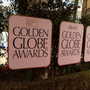 Signage at the Golden Globes