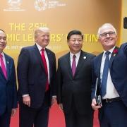 Turnbull selfie with Xi, Trump, Quang