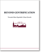 Toward More Equitable Urban Growth Report