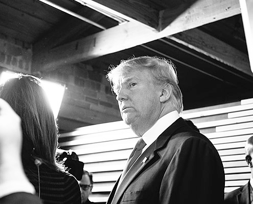 Donald Trump in Greenville, SC during February 2016