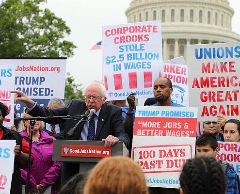 Sanders Introduces $15 Minimum Wage
