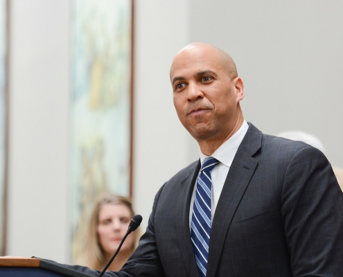 Cory Booker at an AFGE event, February 13, 2019