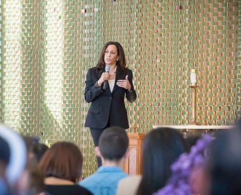 Kamala Harris in Los Angeles at a Town Hall