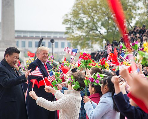 President Trump visits China