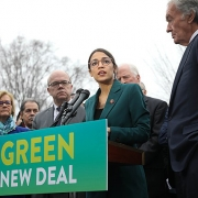Green New Deal presser, Rep. Ocasio-Cortez and Senator Ed Markey