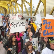 California students march in protest of educations costs