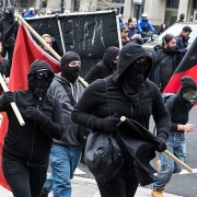 Antifa demonstration in Washington, DC
