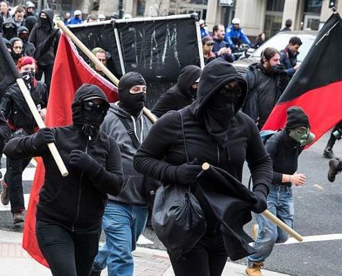 Antifa demonstration in Washington, DC