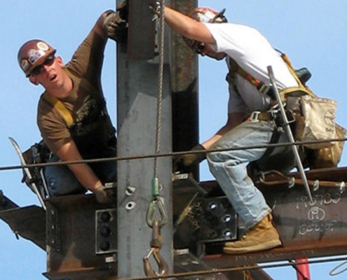 American construction workers