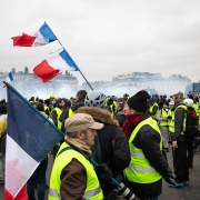 Middle class protest economic challenges in Paris, France
