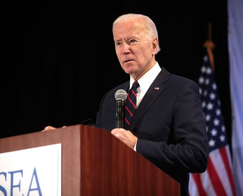 Biden in Iowa during the 2020 Presidential campaign
