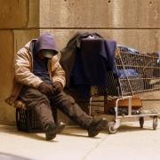 Homeless Veteran on the streets of Boston, Massachusetts