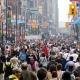 Crowded city streets of Toronto