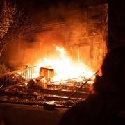 Burning Minneapolis Police Dept.
