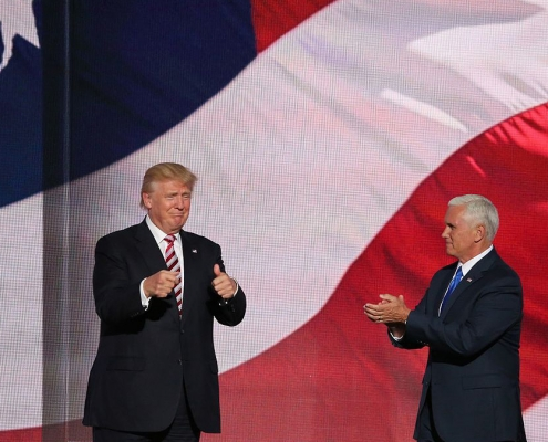 Donald Trump and Mike Pence at RNC
