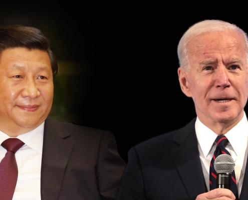 Composite of Xi Jingping and Joe Biden