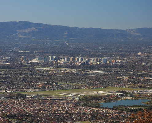 Skyline of San Jose, and Silicon Valley