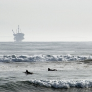 Oil rig off the coast of California