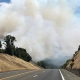 Smoke near the Mendocino Fire