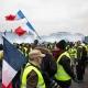 Middle class protest economic challenges in Paris, France