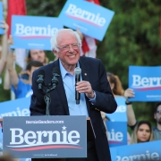 Bernie Sanders campaigns in Chapel Hill, NC