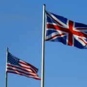 Flags of UK and USA