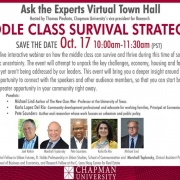 Middle Class Survival Strategies Webinar, Oct. 17