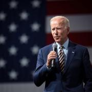 Joe Biden talks in Des Moines, at the Presidential Gun Sense Forum