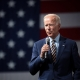 Joe Biden talks in Des Moines, at the Presidential Gun Sense Forum