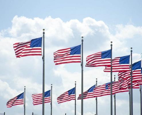 U.S. Flags at Washington Monument