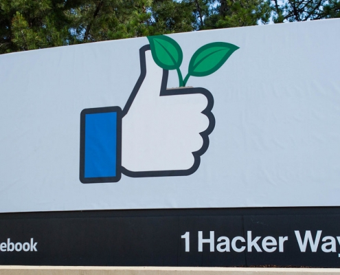 Entrance of Facebook Corporate headquarters