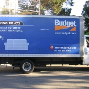 Budget moving truck in San Francisco