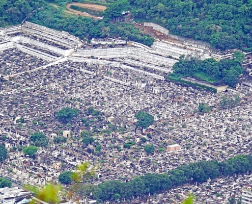 Cemetery in Rio de Janeiro, Brasil