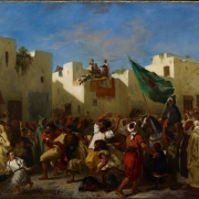 Eugène Delacroix painting, The Fanatics of Tangier