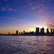 Looking across the East River toward Manhattan