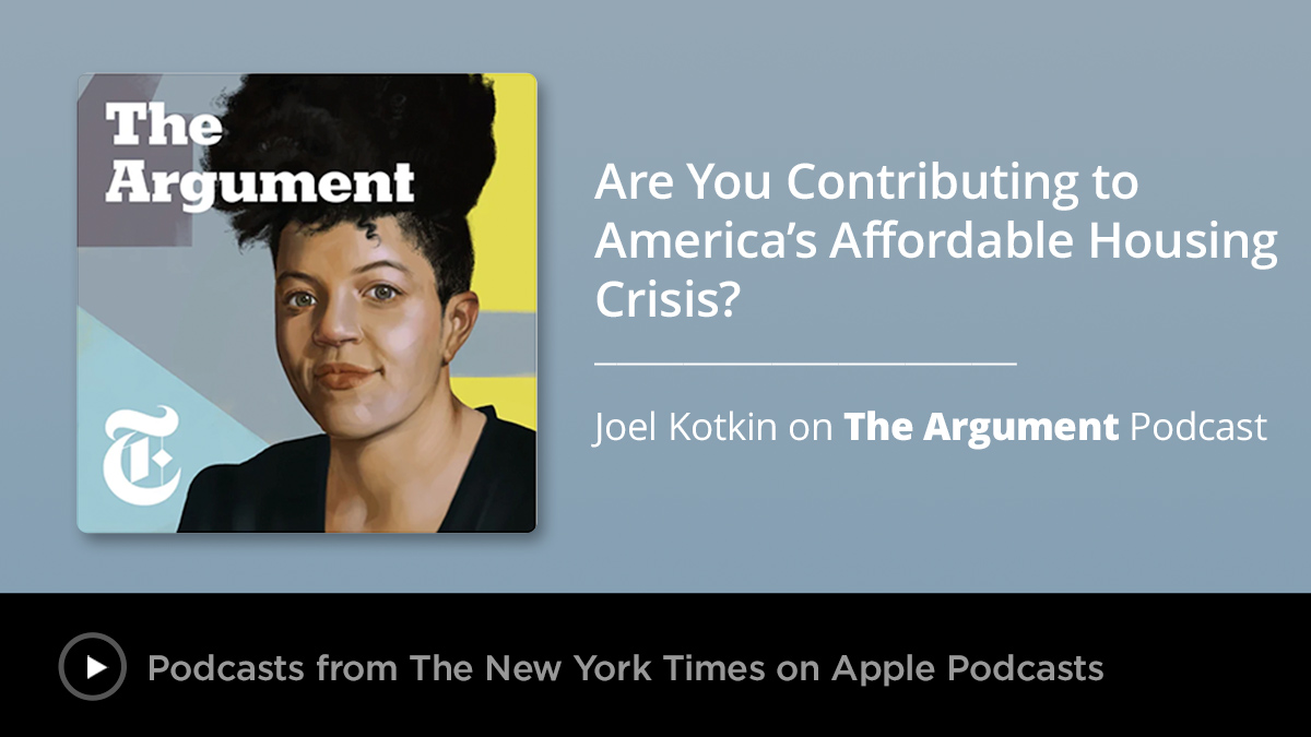 Are you part of the reason rents are going up? The Affordable Housing Crisis on The Argument Podcast