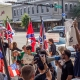 Protest in Gainesville, Florida - with Confederate flags